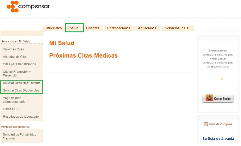 formato de cita medica